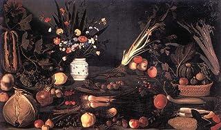 Singing Palette Dipinti Famosi - €40-€1500 Pittura a Olio a Mano da pittori accademici - Natura Morta with Fiori e Fruit C...