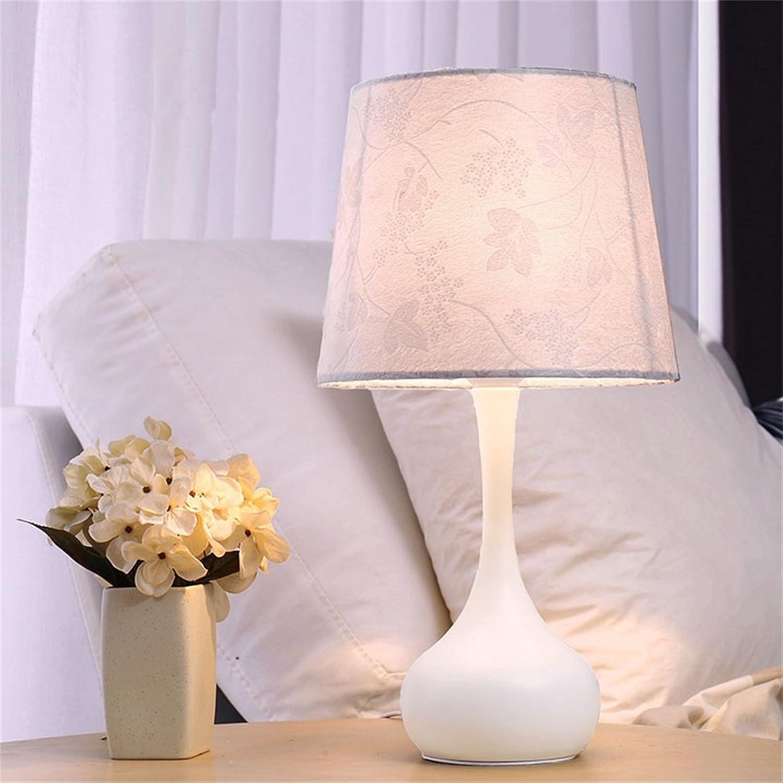 XiuXiu Nordic Modernen Minimalistischen Schmiedeeisen Stoff Tischlampe Nachttischlampe Wohnzimmer Studie Büro Schlafzimmer Dekoration Tischlampe (Farbe   Dimmer switch) B07HMM6PB7   Fairer Preis
