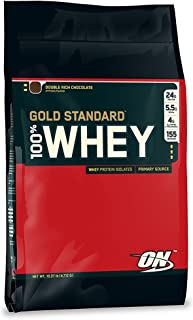 Optimum Nutrition Gold Standard Whey Double Rich Chocolate Flavor, 10 Lbs