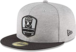 New Era Oakland Raiders NFL Sideline 18 Road On Field Cap 59fifty Fitted OTC