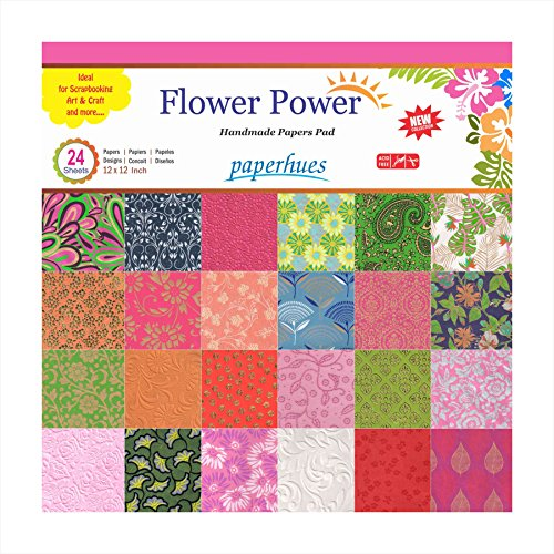 Paperhues Flower Power Scrapbook Papers 12x12quot Pad 24 Sheets