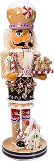 Kurt Adler Gingerbread Nutcracker, Brown/Beige