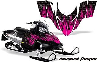 Polaris Shift, RMK, Assault AMRRACING Sled Graphics Decal Kit - Diamond Flames - Pink-Black