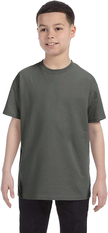Gildan G500B Youth 5.3 oz Heavy Cotton T-Shirt - MILITARY GREEN - Medium