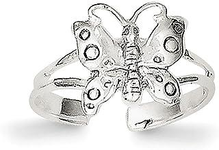 Lex & Lu Sterling Silver Polished Fancy Toe Ring