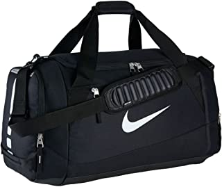 Hoops Elite Team Black Duffel Gym Bag for Men and Women