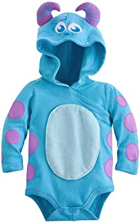 Sulley Monsters Inc. Baby Halloween Costume Bodysuit Hooded Size 3-6 Months