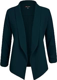 Womens Classic Work Office Blazer Jacket Open Front Lapel Suits Blazer with Plus Size (1X ~ 3XL)
