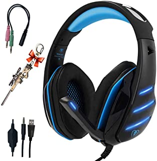Pro Gaming Headset for PC PS4 Xbox One Surround Sound Over-Ear Headphones with Mic