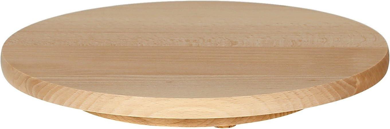 15,2 plateau de fruits avec poign/ée 49,8 ZfgG Plateau en bois massif plateau en bois plateau de dessert en ch/êne 1,2 cm