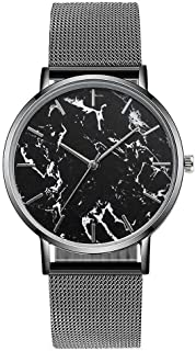 South Lane Stainless Steel Swiss-Quartz Watch with Leather Calfskin Strap, Black, 20 (Model: SS20-dr1-4564)