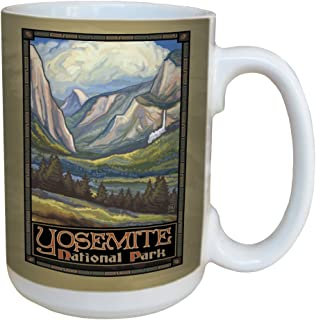 TreeFree Greetings 79478 Yosemite National Park Valley by Paul A. Lanquist Ceramic Mug with Full-Sized Handle, 15-Ounce, Multicolored
