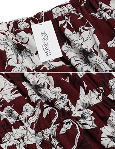Meaneor Kleid Schulterfrei Retro Vintage Rockabilly Abendkleider - 5
