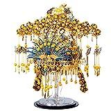 piececool Phoenix CORONET-433pcs DIY de metal modelo chino tradicional reina cabeza puzzle para adultos