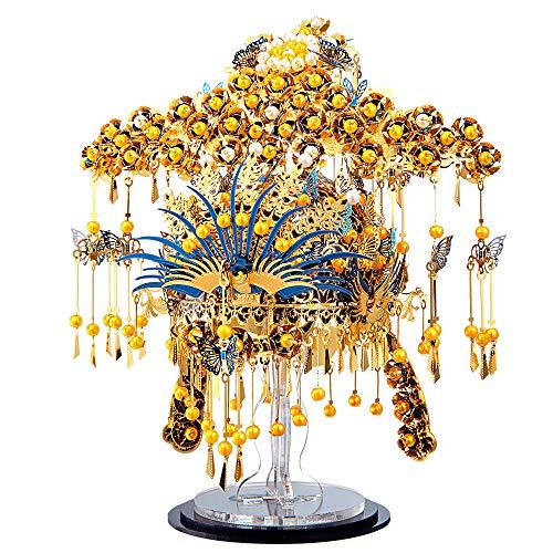 piececool 3D DIY Metallmodell Chinesische traditionelle königliche Kopfbedeckung Metallmodell-Puzzles für Erwachsene- Phoenix CORONET-433pcs