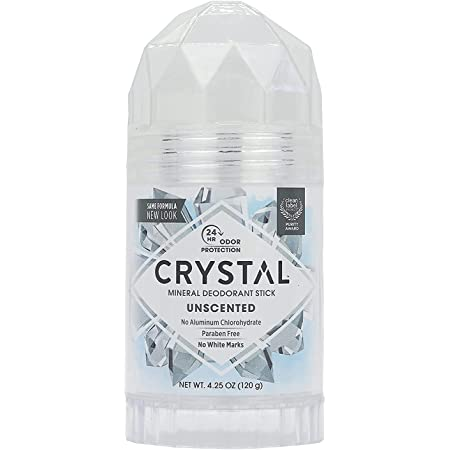 CRYSTAL Deodorant Stick (30003), Unscented, 4.25 Ounce