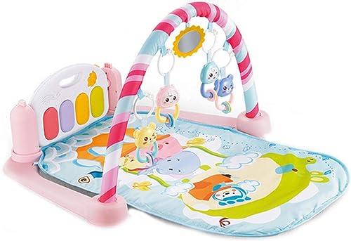 Baby Spielmatte Krabbeldecke Gym Erlebnisdecke mit Fernbedienung und 4 Tasten Fu lavier Musik Krabbeldecke