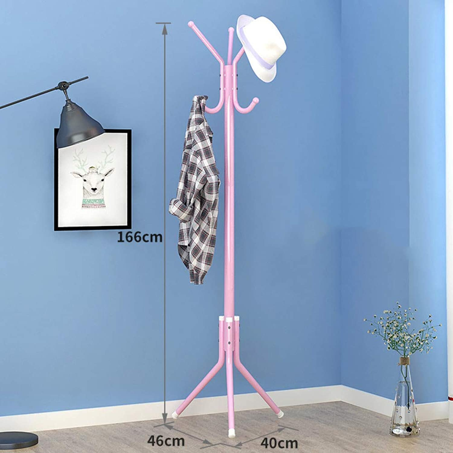Metal Hat Coat Rack,Coat Tree Entryway Standing,Perfect Touch for Your entryway Mudroom Kitchen Bathroom More-L 40x166cm(16x65inch)