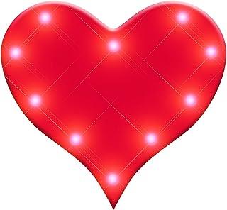Light Up Perfect 10 Heart Flashing Blinking LED Body Light Lapel Pins (25-Pack)