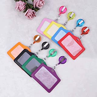 TOYANDONA 8pcs ID Card Holder Transverse Style Pass Card Badge Case Holder for Luggage Suitcase School Baggage
