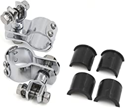 uxcell 1 inches 1 1/4 inches Universal Engine Guard Highway Foot Pegs Mount Clamp On For Harley Davidson Chrome