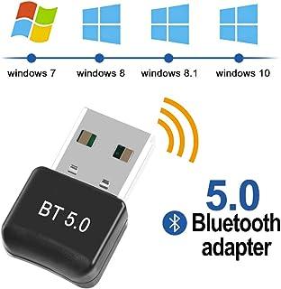 Adaptador de Bluetooth - FAGORY 5.0 Bluetooth USB PC Bluetooth Transmisor y Receptor para PC con Windows XP/7/8/8.1/10/Vista, Plug and Play Compatible con Auriculares, Altavoces, Teclados, Ratónes