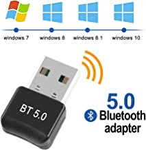 FAGORY Adaptador de Bluetooth 5.0 Bluetooth USB PC Bluetooth Transmisor y Receptor para PC con Windows XP/7/8/8.1/10/Vista, Plug and Play Compatible con Auriculares, Altavoces, Teclados, Ratónes