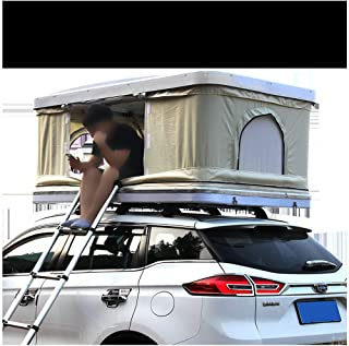 Car Roof Tent 2-3 Adults Waterproof Automotive Rooftop Tent ABS Shell ,with Extension Ladder and LED Light
