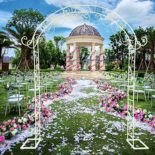 2.35X2M Iron Arch Wedding Stand Wedding Decor Garden Arch Wedding Decoration Climbing Frame Arbour Balloon/Flower Backdrop Framework Stand Party (Type 2)