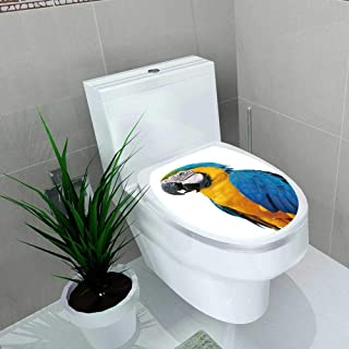 Auraise-home Decal Wall Art Decor Beautiful Bird Blue and Gold Macaw Isolate on White