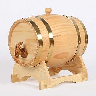 Fûts de vin Baril de casier à vin en bois, fûts de chêne naturel fabriqués à la main en utilisant un tonneau de vin en boi...