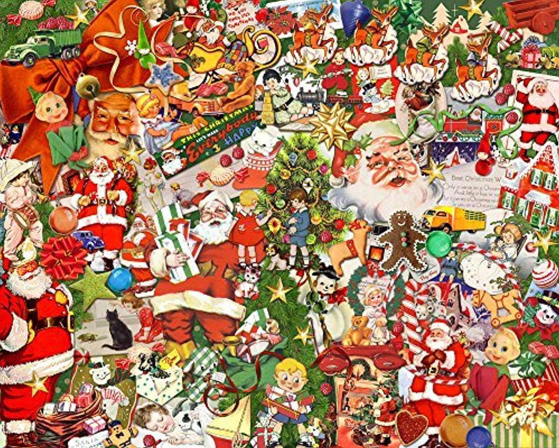connotación de lujo discreta Vintage Christmas Jigsaw Puzzle 1000 Piece by Vermont Christmas Christmas Christmas Company  servicio de primera clase