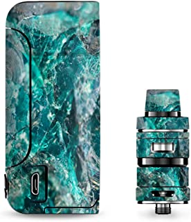 IT'S A SKIN Decal Vinyl Wrap for Vaporesso Armour Pro Cascade Tank Vape Sticker Sleeve/Chrysocolla hydrated Copper Glass Teal Blue