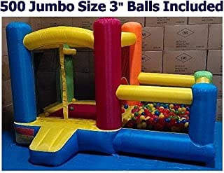 Little Castle Bounce House w/ Attached Ball Pit & Step (500 Jumbo 3
