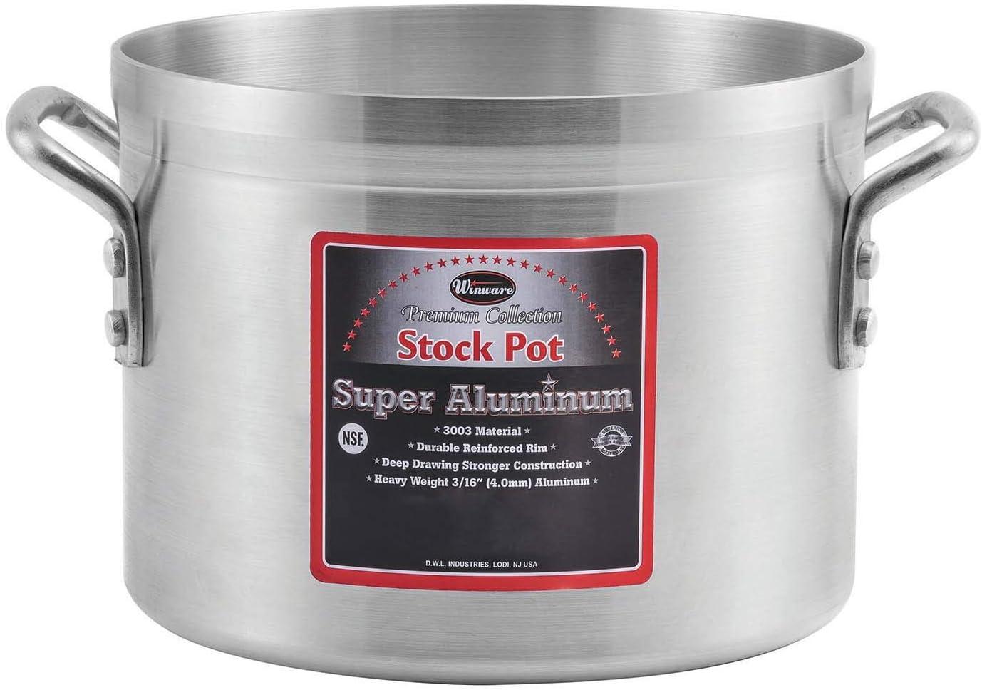 Winco AXS-50 Stock Pot safety 1 50 quarts Silver Ranking TOP10