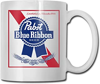 Pabst Blue Ribbon Ceramic Coffee Mug Fashion Single Products, Household Office Travel Supplies