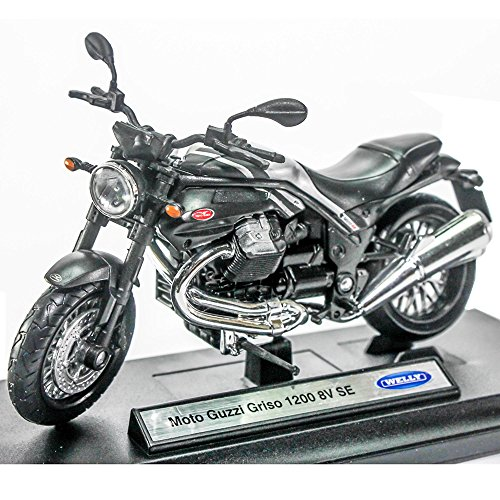 Welly 1:18 Die-cast Moto Guzzi Griso 1200 8V SE Motorcycle Black Color Model Collection