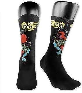 Bon Jovi Men Women Socks Medium Long Socks Comfortable Breathable Sports Leisure Work Warm