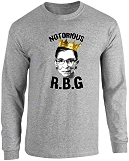 Notorious R.B.G. RBG Supreme Court Political Full Long Sleeve Tee T-Shirt