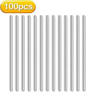 Nose Bridge for Mask, Aluminum Strips Nose Wire, 90MM Metal Flat Nose Clips Nose Bridge Bracket Adhesive DIY Wire for Sewing Crafts (100PCS)
