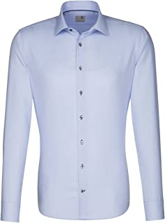 Seidensticker Calzini Business Camicia Modern a maniche corte button-down Colletto A Quadri