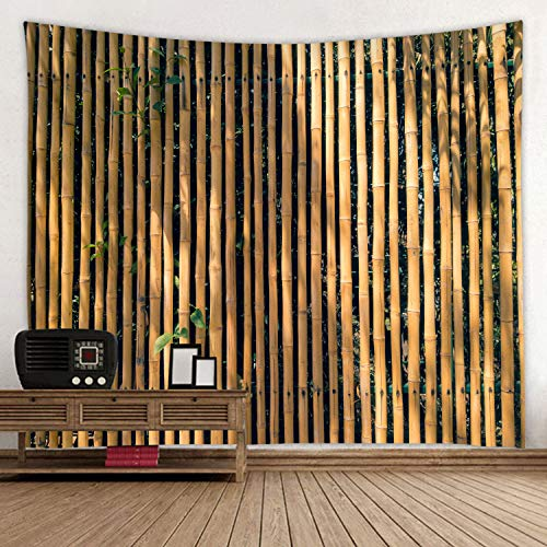 JINYAO Bamboo Curtain Print Decorative Blanket Tapestry Wall Hanging Art Decoration Living Room and Bedroom Hanging 59 x 51 inches