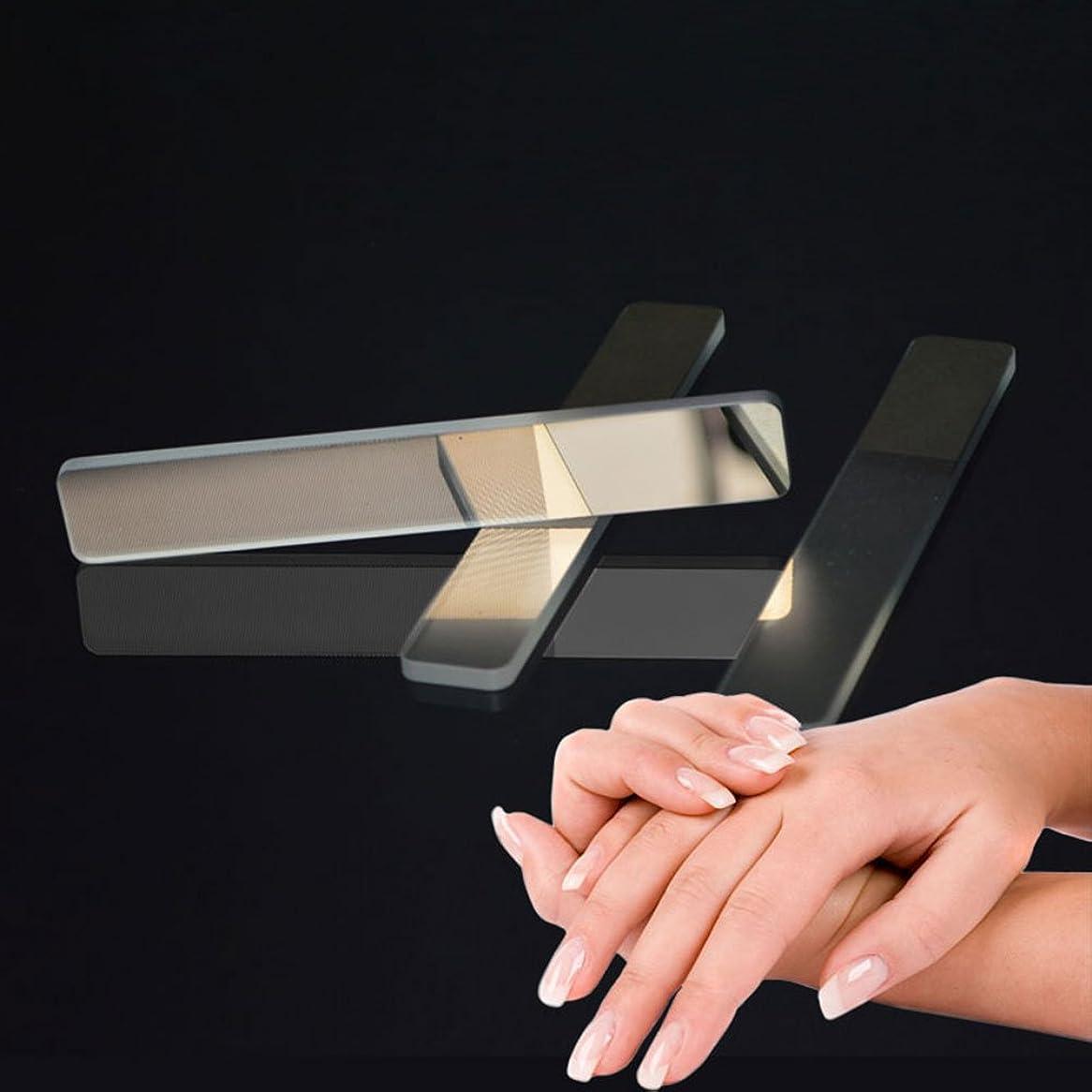 促進する無限大救援爪やすり WUUDI 爪磨き ガラス爪ヤスリ ネイルファイル ネイルシャイナー つめケア ガラス製 ネイルケア 甘皮処理 (白)