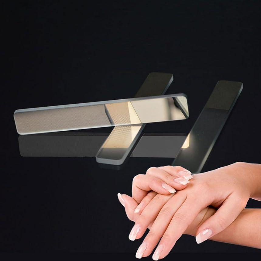 遊び場自己ドラム爪やすり WUUDI 爪磨き ガラス爪ヤスリ ネイルファイル ネイルシャイナー つめケア ガラス製 ネイルケア 甘皮処理 (白)
