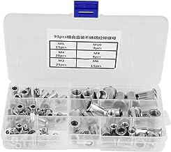 Nitmutter i rostfritt stål platt huvud nitmutter med gänga, M3, M4, M5, M6, M8, M10 304 blindnitmutter i rostfritt stål, 9...