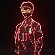 Anime Lights 3D Led, Haikyuu Kozume Tanaka Bokuto Hinata 3D Led Illusie Nachtverlichting Anime Lamp Haikyuu Led Verlichtin...