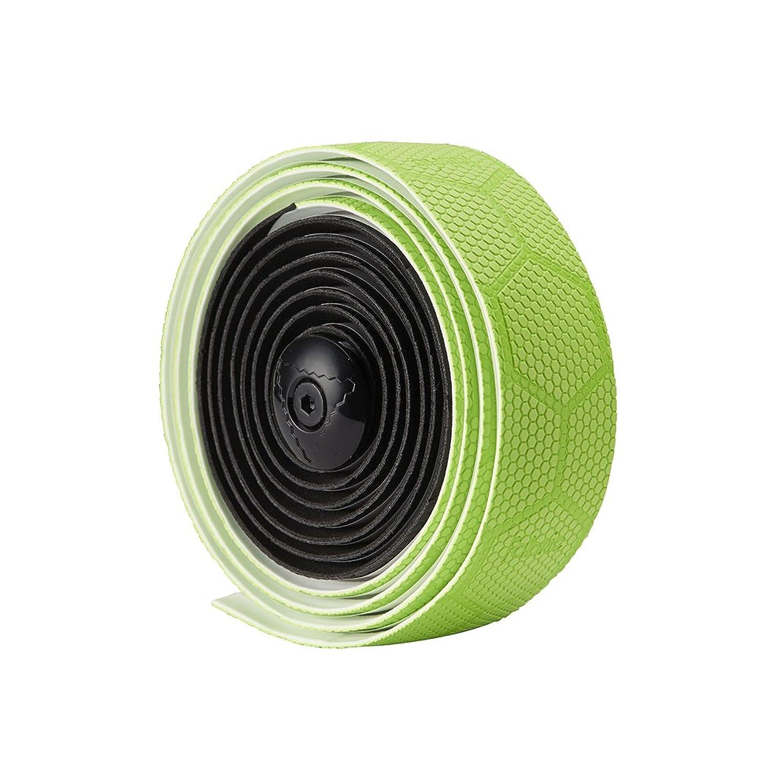 永遠の作物伝染病fabric(ファブリック) バーテープ ヘックス デュオ バーテープ ブラック/グリーン FP3108U13OS FP3108U13OS ブラック/グリーン