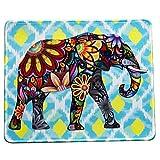 vivipow Cute elefante patrón Rectángulo antideslizante de goma Mousepad ratón para videojuegos, elefante alfombrilla de ratón