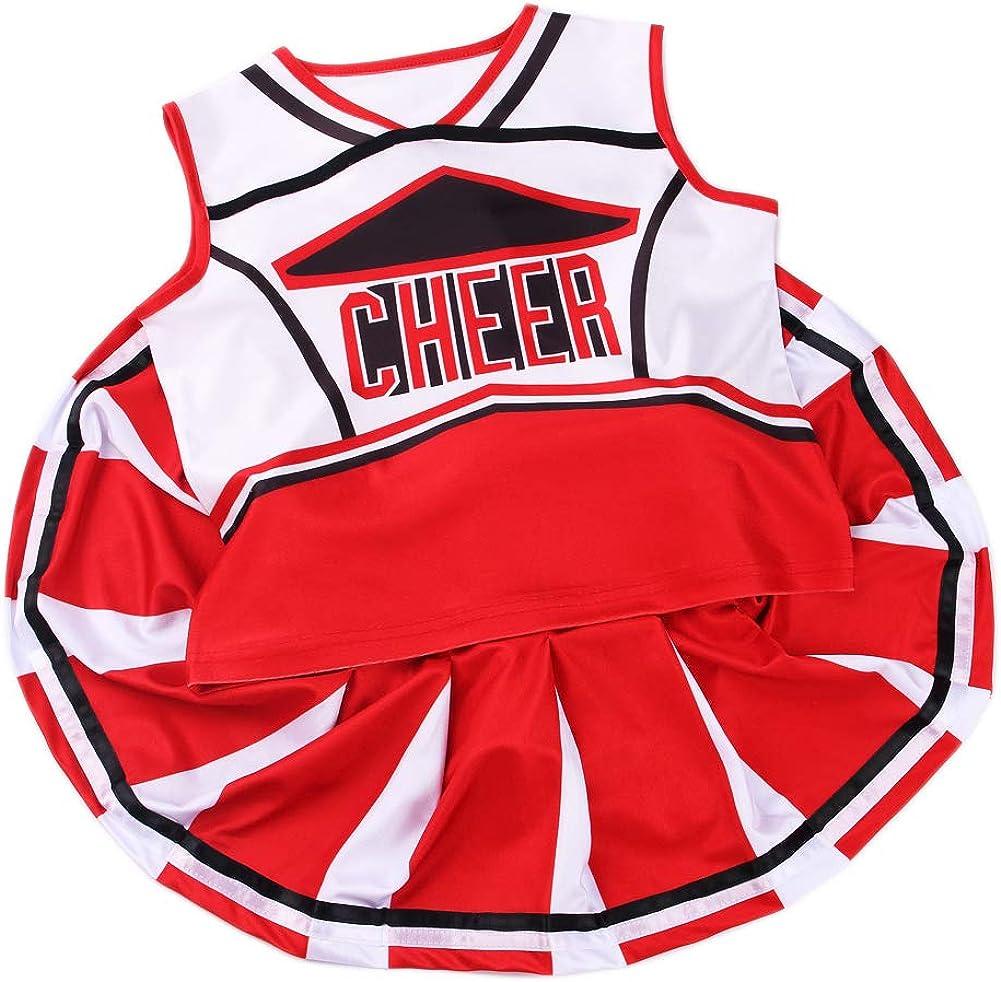 yolsun Cheerleader Costume for Girls Halloween Cute Uniform Outfit