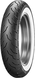 Dunlop American Elite Front Motorcycle Tire MT90B-16 (72H) Wide White Wall – Fits: Harley-Davidson CVO Dyna Fat Bob FXDFSE 2009–2010